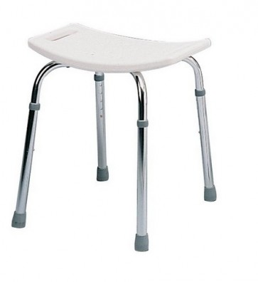 Delux Shower Stool with Backrest - Height Adjustable  537A