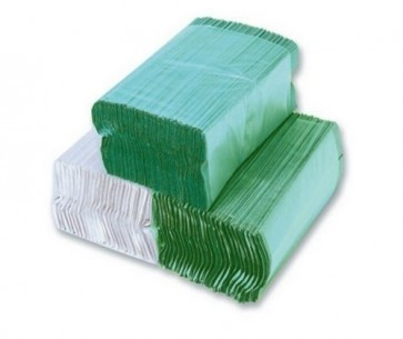 1 Ply Green C-Fold Hand Towels 2800 per pack