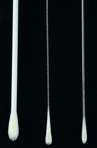 Plain sample swabs Sterile - White, Plastic/Rayon x100