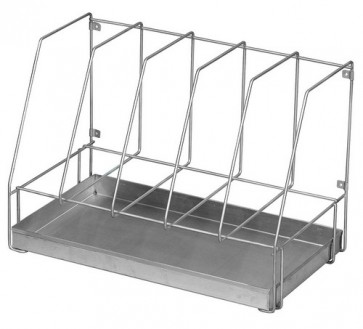 Drainage Rack, Five Bedpans