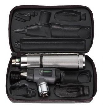 WA 3.5v Macroview Otoscope Set (w/ Throat Illuminator, Rechargeable Lithium Ion Handle and Hard Case)