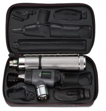 WA 3.5v Macroview (Prestige) Otoscope Set (w/ C-Cell Handle and Hard Case)