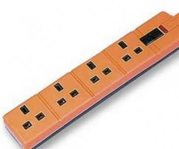 R/E Socket - 4 Gang + 5 Meter Orange cable