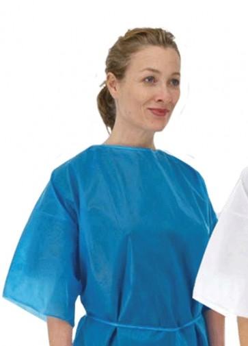 Disp Patient Gown - Half Sleeve - Blue (x 50)