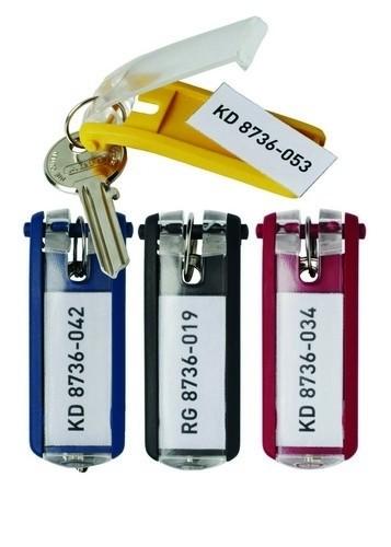 Blue Key Clip x 6