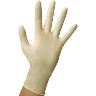Standard Latex Powder Free Non Sterile Examination Gloves - Med (100)