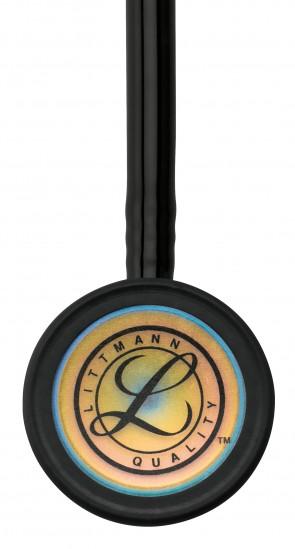 3M Littmann Classic III Stethoscope, RAINBOW EDITION 3 (Rainbow-Finish Chestpiece, Black Tube), 5870