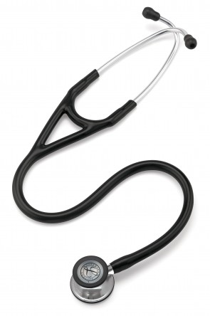 3M Littmann Cardiology IV Stethoscope, MIRROR EDITION 3 (Mirror-Finish Chestpiece, Black Tube), 6177