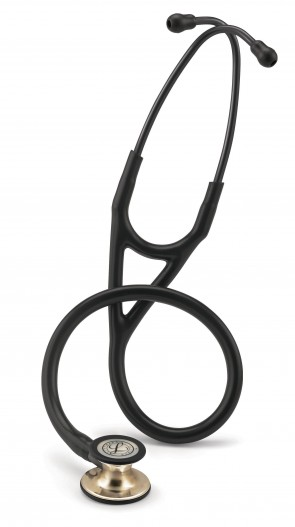 3M Littmann Cardiology IV Stethoscope, CHAMPAGNE EDITION (Champagne-Finish Chestpiece, Black Tube), 6179