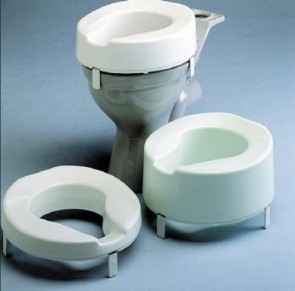 "Ashby Raised Toilet Seat 10cm (4"")"