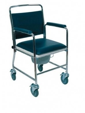 Mobile Commode with detachable Backrest & Push Handle