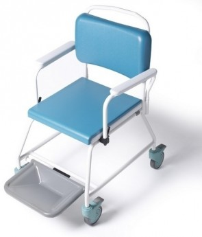 Vernachair with Footrest for use with Disposable Bedpan