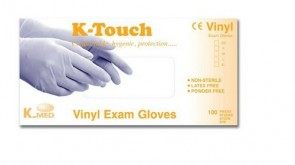 K-Touch Vinyl P/F - Non Sterile Examination Gloves - Sml (100)