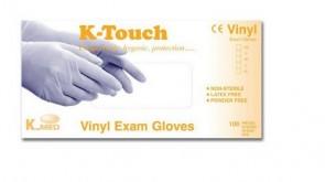 K-Touch Vinyl P/F - Non Sterile Examination Gloves - Med (100)