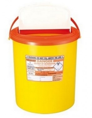 Sharps Bin - Xlarge 22 Litre - Orange Lid
