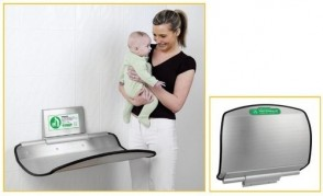 Stainless Steel Nappy Changing Unit (Designed to withstand static load of 100kg)