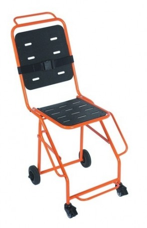 Evacuator Chair 4 wheels (front 2 braked )& footrest