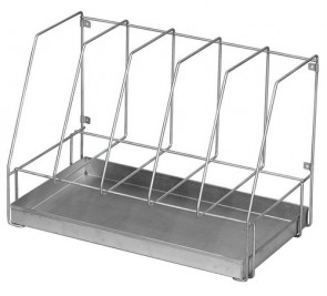 Drainage Rack, Five Bedpans