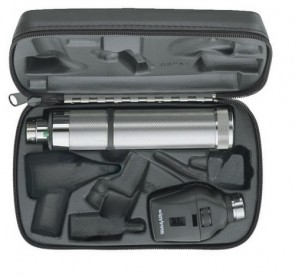 WA 3.5v Professional Ophthalmoscope Set (w/ C-Cell Handle and Hard Case)