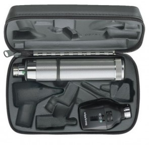 WA 3.5v Elite Ophthalmoscope Set (w/ C-Cell Handle and Hard Case)