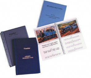 Four Page Washable Reading Test Type - Book
