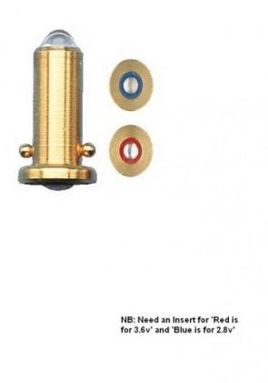 Keeler 2.8v Bulb for Practitioner / Fibre Optic Otoscope (x 2) - 1015-P-7066