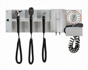 Heine EN100 with K180 F/O Otoscope & Ophthalmoscope - Wall Mounted