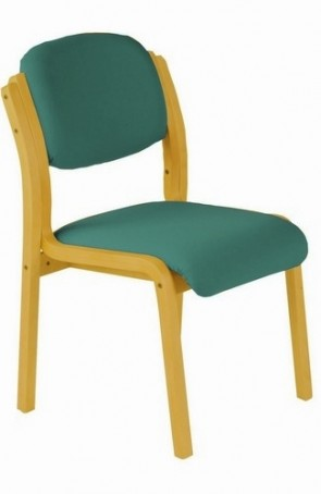 Flex Wood Stacking Chair - w/out Arms - (Specify Colour)