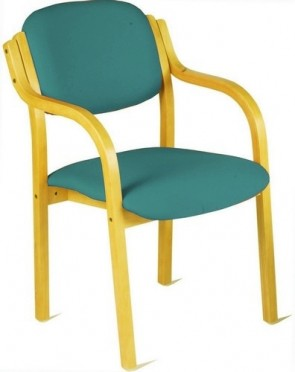 Flex Wood Stacking Chair - w/ Arms - (Specify Colour)